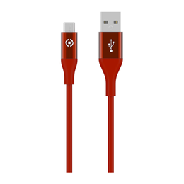 Celly MICRO-USB COLOR 3M latauskaapeli, punainen