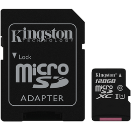Kingston 128 Gt microSD Canvas Select UHS-I Speed Class 1 (U1) -muistikortti