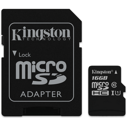 Kingston 16 Gt microSD Canvas Select UHS-I Speed Class 1 (U1) -muistikortti