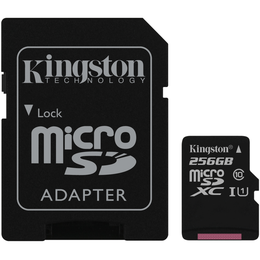 Kingston 256 Gt microSD Canvas Select UHS-I Speed Class 1 (U1) -muistikortti