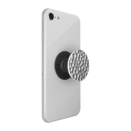 PopSockets PopGrip -pidike, Hammered Metal Silver