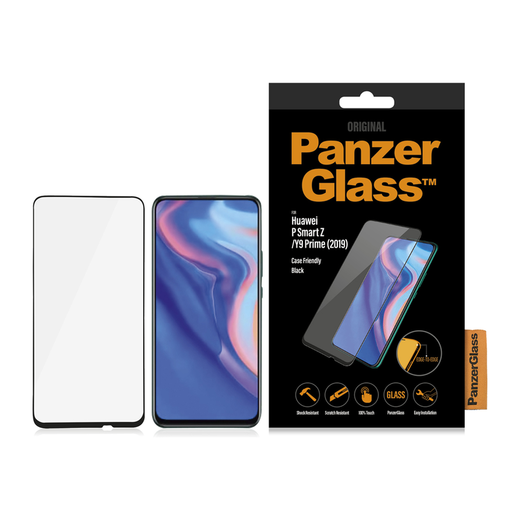 PanzerGlass Huawei P Smart Z / Honor 9X / 9X Pro Case Friendly -panssarilasi, Koteloihin sopiva
