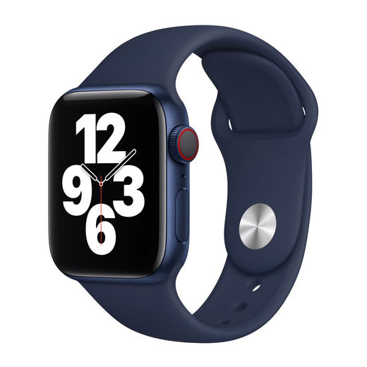 Alkuperäinen Apple Watch S4/S5/S6/SE 40mm Sport Band, Tummansininen