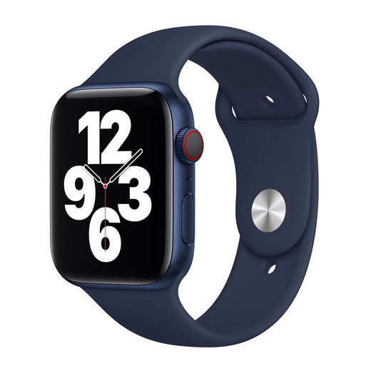 Alkuperäinen Apple Watch S4/S5/S6/SE 44mm Sport Band, Tummansininen