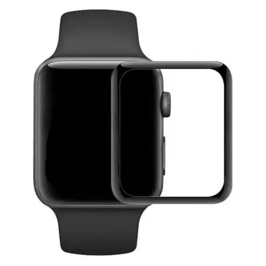 Apple Watch 42mm panssarilasi, 3D Full Cover Tempered Glass
