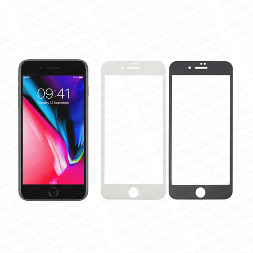 Apple iPhone 8 Plus panssarilasi, 3D Full Cover Tempered Glass