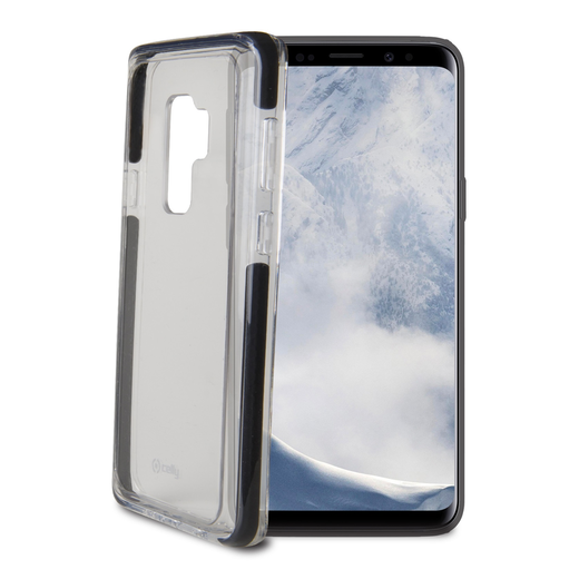 Celly Hexagon Galaxy S9 -suojakuori, Clear Black