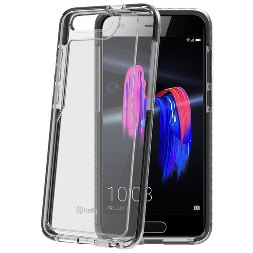 Celly Hexagon Honor 9 suoja, Clear Black