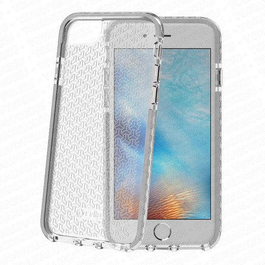 Celly Hexagon iPhone 6/6s/7/8 suoja, Clear Grey
