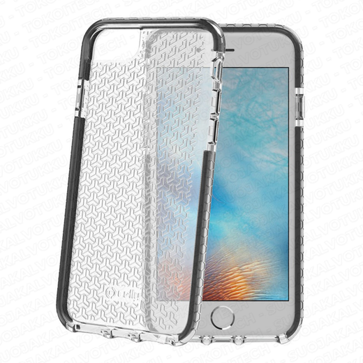 Celly Hexagon iPhone 6/6s/7/8 suoja, Clear Black