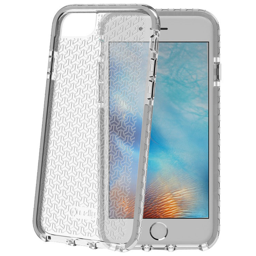 Celly Hexagon iPhone 66s78 suoja, Clear Grey
