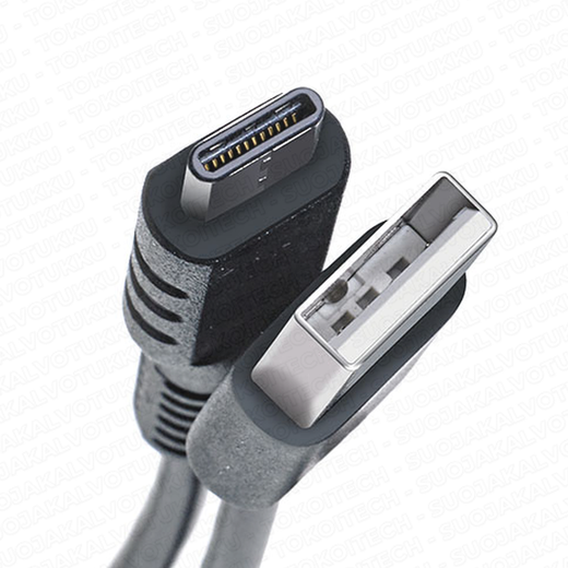 Celly Type-C - USB 2.0 -kaapeli, 1m, musta