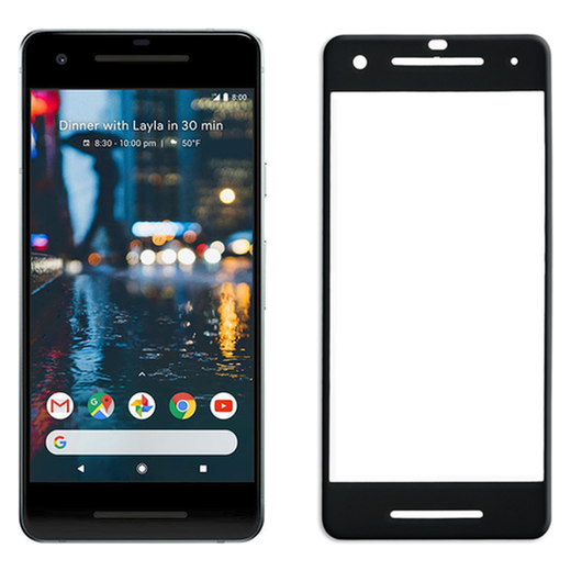 Google Pixel 2 panssarilasi, 2.5D Full Cover Tempered Glass