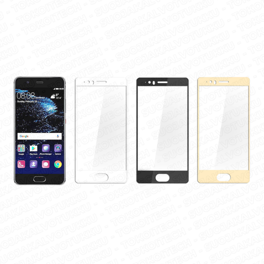 Huawei P10 Plus panssarilasi, 2.5D Full Cover Tempered Glass