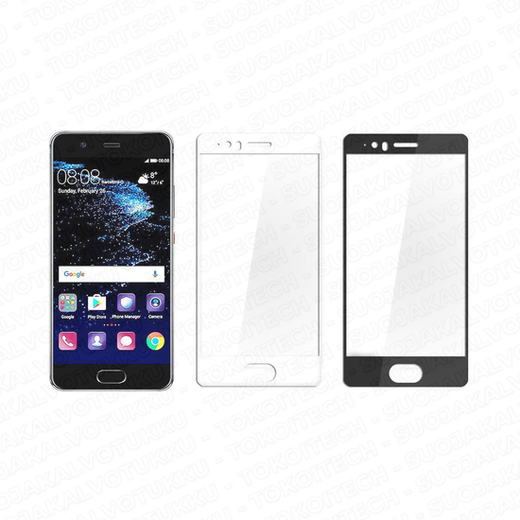 Huawei P10 panssarilasi, 2.5D Full Cover Tempered Glass