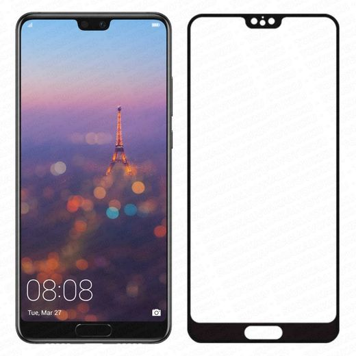 Huawei P20 panssarilasi, 2.5D Full Cover Tempered Glass