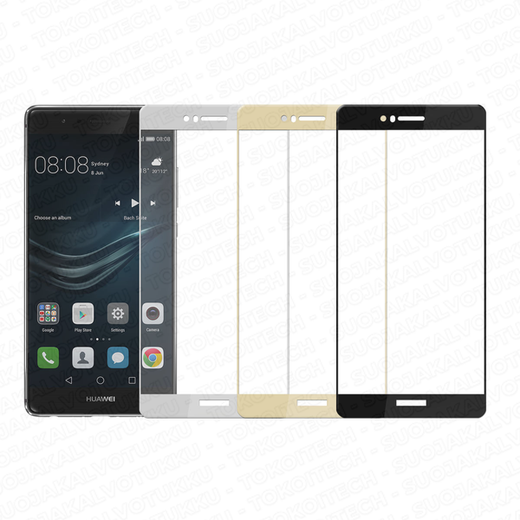 Huawei P9 panssarilasi, 2.5D Full Cover Tempered Glass