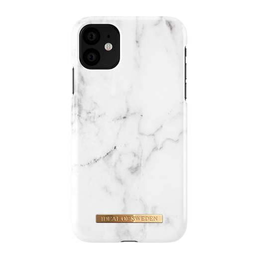 iDeal of Sweden iPhone 11 Fashion Case, White Marble