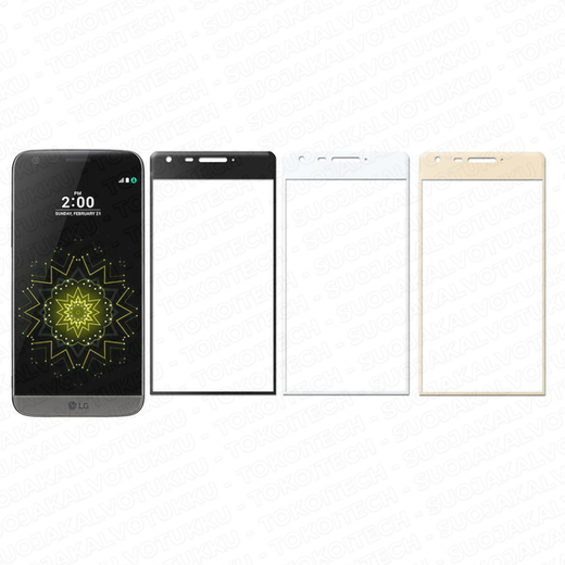 LG G5 / G5 SE panssarilasi, 3D Full Cover Tempered Glass