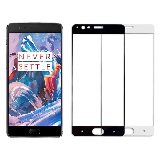 OnePlus 3  3T panssarilasi, 2.5D Full Cover Tempered Glass