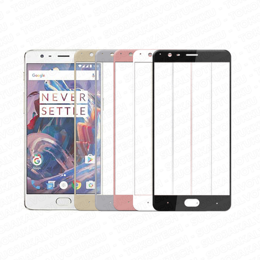 OnePlus 3 / 3T panssarilasi, 2.5D Full Cover Tempered Glass