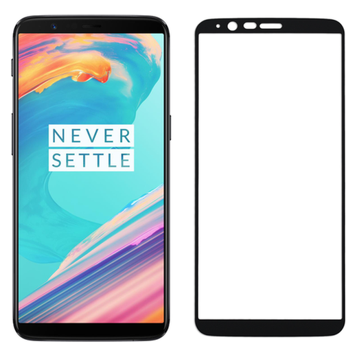 OnePlus 5T panssarilasi, 2.5D Full Cover Tempered Glass