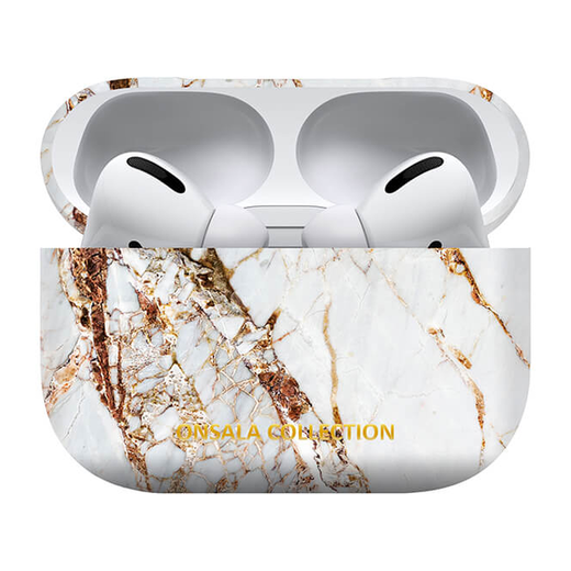 Onsala Collection Airpods Pro suojakuori, White Rhino Marble
