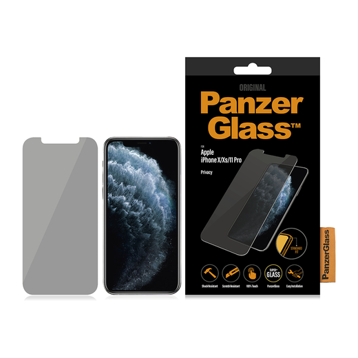 PanzerGlass iPhone X / Xs / 11 Pro -panssarilasi, Privacy klassinen