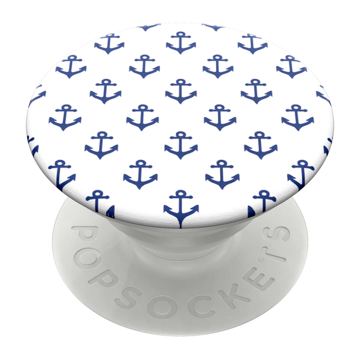 PopSockets PopGrip -pidike, Anchors Away White