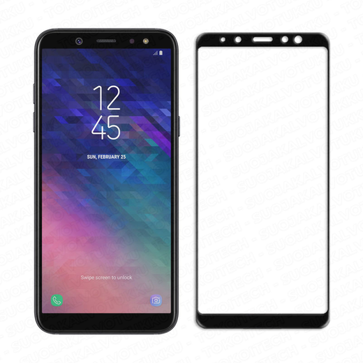 Samsung Galaxy A6 (2018) panssarilasi, 2.5D Full Cover Tempered Glass