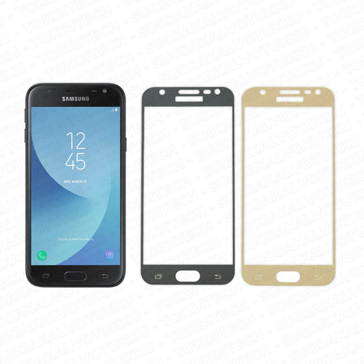Samsung Galaxy J3 (2017) panssarilasi, 2.5D Full Cover Tempered Glass