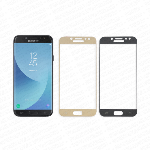 Samsung Galaxy J7 (2017) panssarilasi, 2.5D Full Cover Tempered Glass