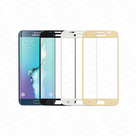 Samsung Galaxy S6 Edge Plus panssarilasi, 3D Full Cover Tempered Glass