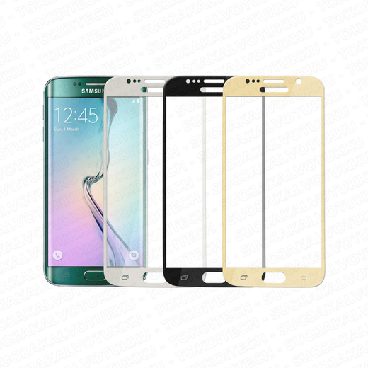 Samsung Galaxy S6 Edge panssarilasi, 3D Full Cover Tempered Glass