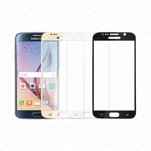 Samsung Galaxy S6 panssarilasi, 2.5D Full Cover Tempered Glass