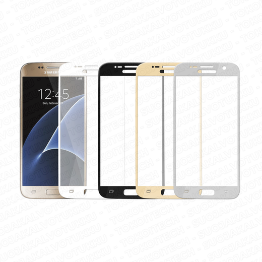 Samsung Galaxy S7 panssarilasi, 2.5D Full Cover Tempered Glass