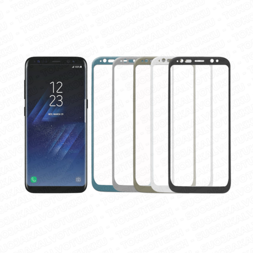 Samsung Galaxy S8 panssarilasi, 3D Full Cover Tempered Glass