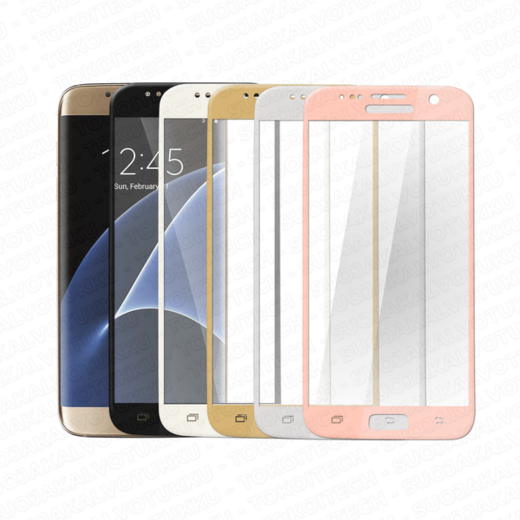 Samsung Galaxy S7 Edge panssarilasi, 3D Full Cover Tempered Glass
