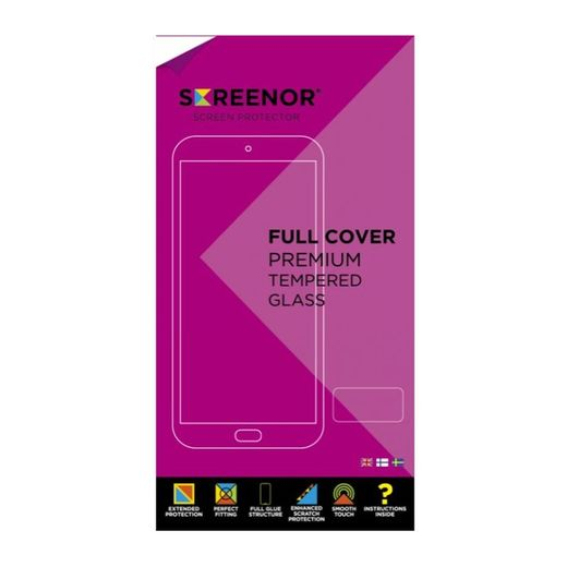Screenor Galaxy A41 Premium-panssarilasi, New Full Cover, musta