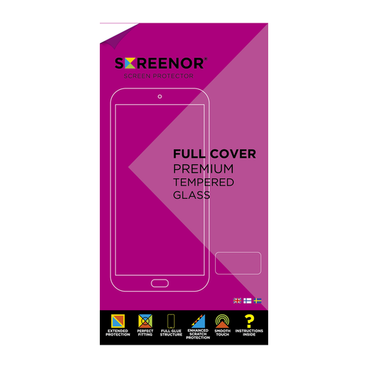Screenor Honor 20 / 20 Pro Premium-panssarilasi, New Full Cover, musta