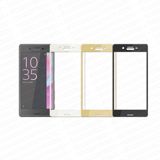 Sony Xperia X / X Performance panssarilasi, 3D Full Cover Tempered Glass