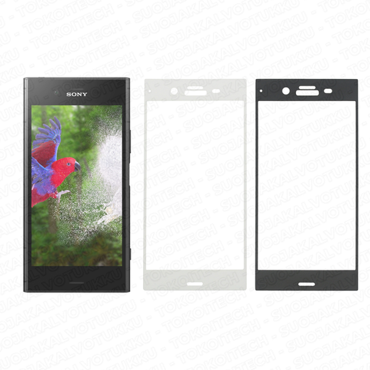 Sony Xperia XZ1 panssarilasi, 3D Full Cover Tempered Glass